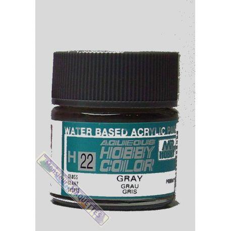 Peinture acrylique h22 gris brillant 10ml gsh022 gunze sangyo for Peinture gris brillant