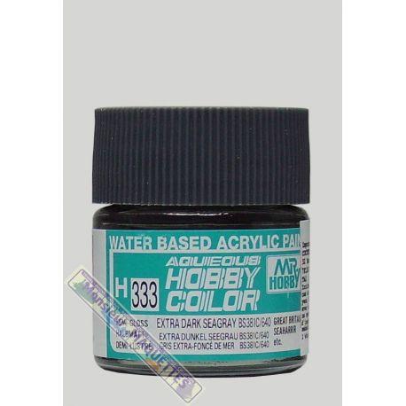 Peinture Acrylique H333 Gris Extra Fonce De Mer Satine 10ml Gsh333