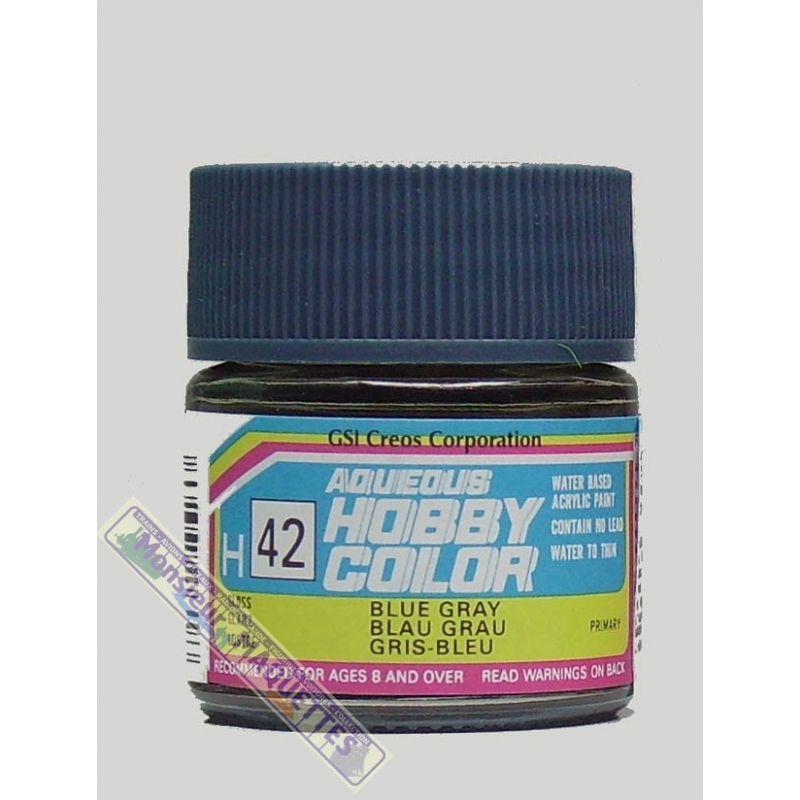 Peinture acrylique h42 gris bleu brillant 10ml gsh042 gunze sangyo for Peinture gris brillant