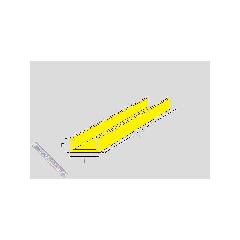 Profile laiton en u 1x1 mm bml111 baronmodels - Profile en u ...