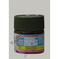 PEINTURE ACRYLIQUE H320 VERT FONCE SATINE (10ML)