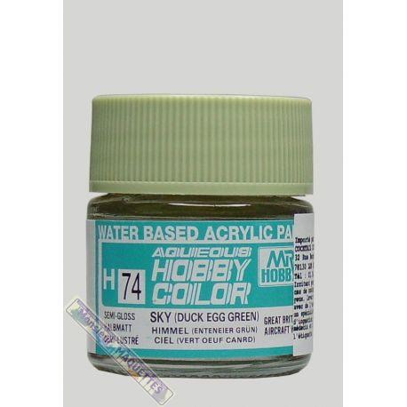Peinture acrylique h74 vert oeuf de canard satine 10ml gsh074 for Peinture chambre vert canard