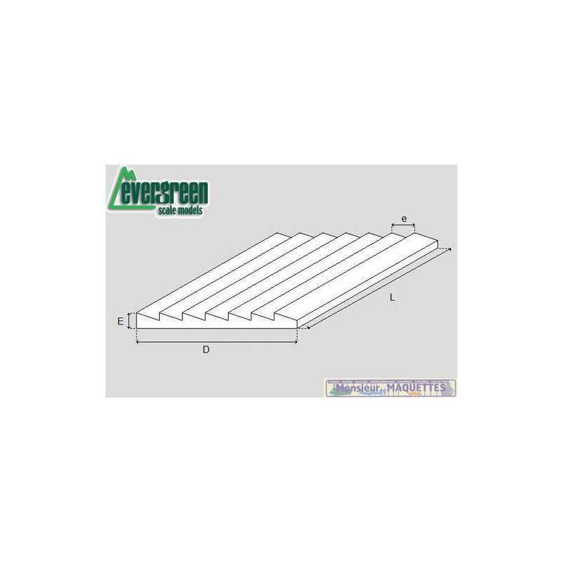 plaque plastique bardage 292x152x1 mm ev4051 evergreen. Black Bedroom Furniture Sets. Home Design Ideas