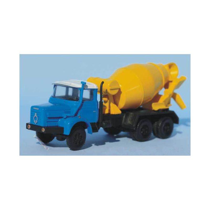 camion berliet pmh 12 toupie beton bleu jaune sa4926. Black Bedroom Furniture Sets. Home Design Ideas