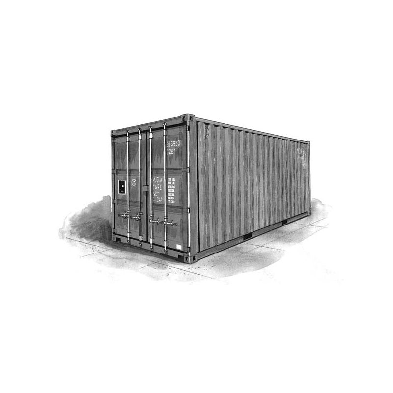 container de 20 pieds it3888 italeri. Black Bedroom Furniture Sets. Home Design Ideas