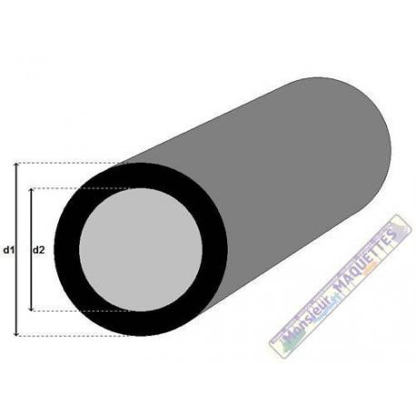 PROFILE FIBRE DE CARBONE TUBE ROND 7.0/8.0MM X 1M