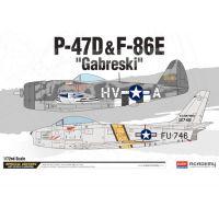 """2 Avion P-47D & F-86E """"GABRESKI"""""""