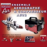 Ensemble aérographe compresseur HD + ultra cleaner