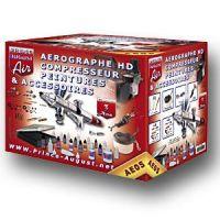 Ensemble aérographe compresseur HD peintures et accessoire + ultra cleaner