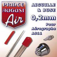 Buse et aiguille 0,2mm pour A011