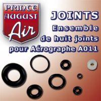 Ensemble de 8 joints pour aérographe A011