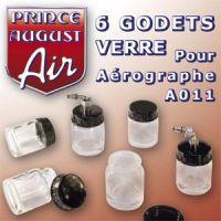 4 godets avec couvercle et 2 godets avec plongeur de 22ml pour aérographe A011