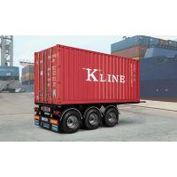 "Remorque porte conteneur 20' 3 essieux ""KLINE"""