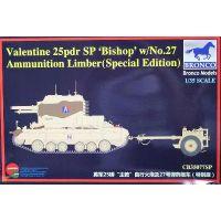 """Canon automoteur 25pdr """"Bishop"""" avec remorque munitions n°27"""