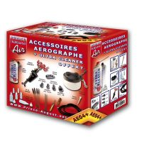 Ensembleaccessoirespour aérographe + ultra cleaner