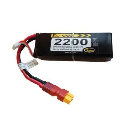 Batterie LI PO 11,1V 2200mAh 30C prise Dean