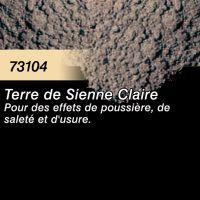 Pigment (terre à décor) terre de sienne claire