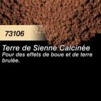 Pigment (terre à décor) terre de sienne calcinée