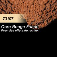 Pigment (terre à décor) ocre rouge
