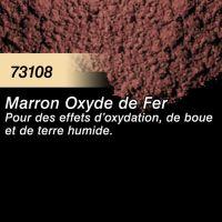 Pigment (terre à décor) marron oxyde de fer
