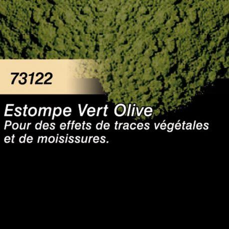 Pigment (terre à décor) vert olive fanée