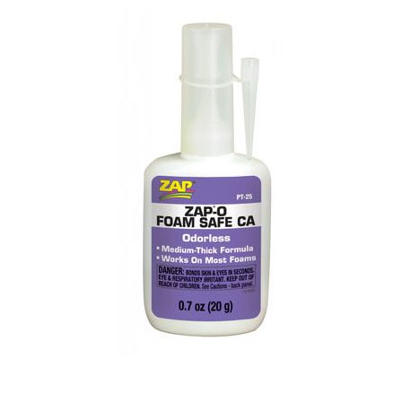 Colle cyanoacrylate sans odeur pour polystyrènes ZAP PT25