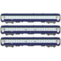 3 voitures UIC B9c9x couchettes SNCF (n°1)