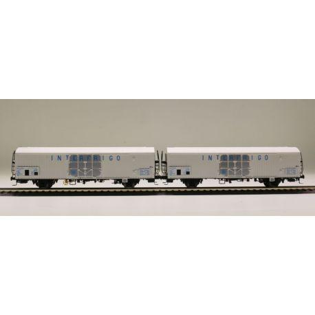 "Sst 2 wagons lbbes ""INTERFRIGO"" SNCF (n°1)"
