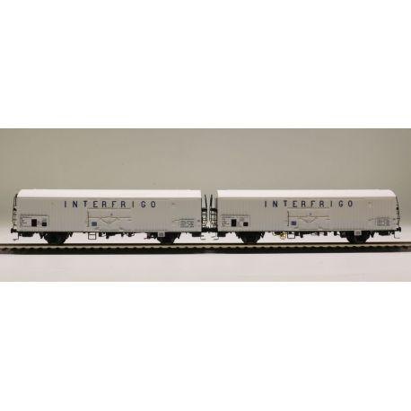 "Sst 2 wagons lbbes ""INTERFRIGO"" SNCF (n°2)"