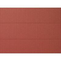 Pplaque de toit en tôle ondulée rouge