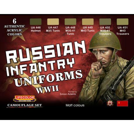 Set peintures uniformes infanterie russe WWII