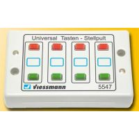 Module 8 boutons poussoirs et 8 voyants (4 rouges + 4 verts)