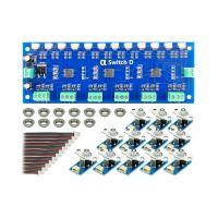 AlphaSwitch-D (12 boutons poussoirs avec voyant bleu avec platine pour commande d'aiguillages)