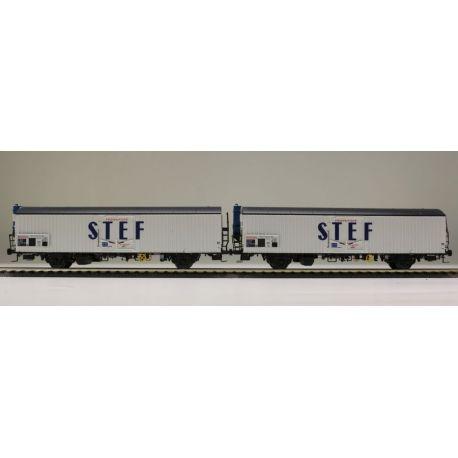 "Sst 2 wagons lgs ""STEF"" SNCF (n°1)"