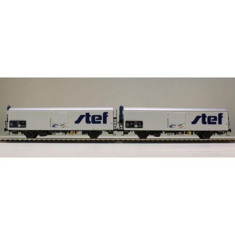 "Sst 2 wagons lbbghs ""STEF"" SNCF (n°2)"