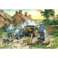 Canon anti-char allemand 76,2 mm Pak 36 (r) avec servants