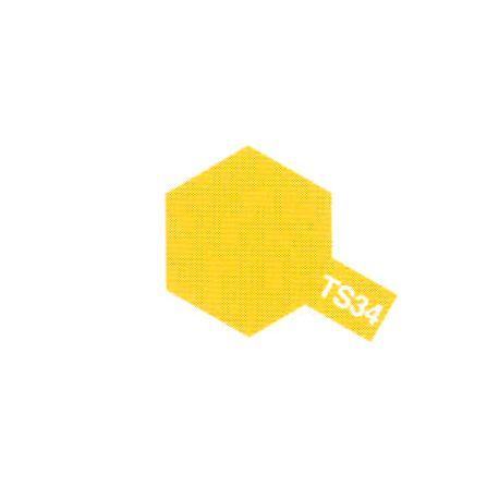Peinture aérosol jaune camel brillant TS-34 (100ml)