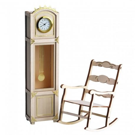 Horloge et rocking chair