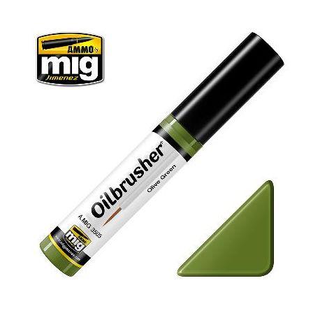 Peinture Oilbrusher vert olive (10ml)