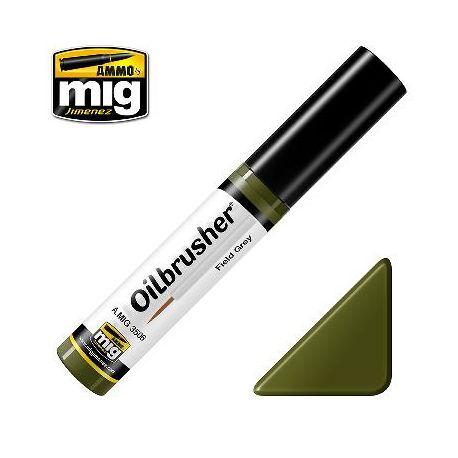 Peinture Oilbrusher vert campagne (10ml)
