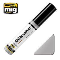 Peinture Oilbrusher gris moyen (10ml)