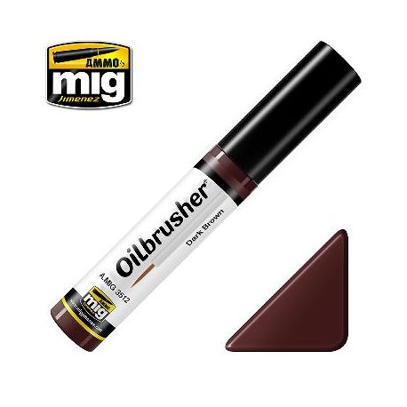 Peinture Oilbrusher brun foncé (10ml)