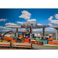 Grand portique à containers