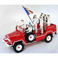"Véhicule ACMAT ""BMPM3 porte drapeau (8 figurines) 14 juillet 2019"