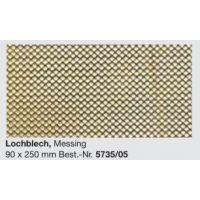 Plaque laiton perforée 90 x 250 mm