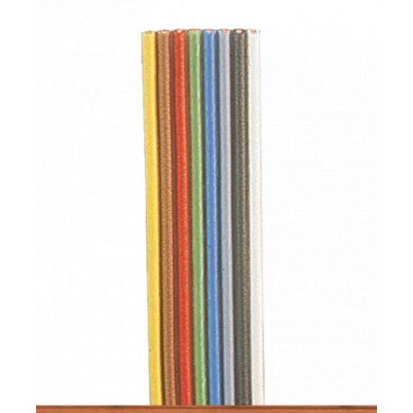 8 fils électriques 0,14mm2 jaune,brun,rouge,vert,bleu,gris,noir,blanc (5m)