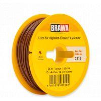 Fil électrique 0,25mm2 brun 25m