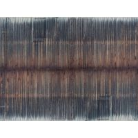 Plaque carton 3D mur de planches vieillies