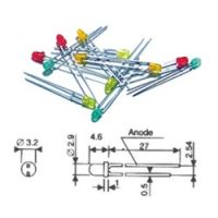 DIODE ELECTROLUMINESCENTE (LED) JAUNE-ORANGE 3MM