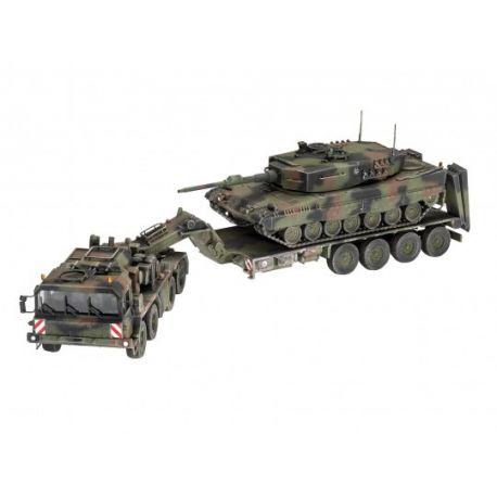 """Camion transport de char SLT 50-3 """"Elefant"""" et char Leopard 2A4"""